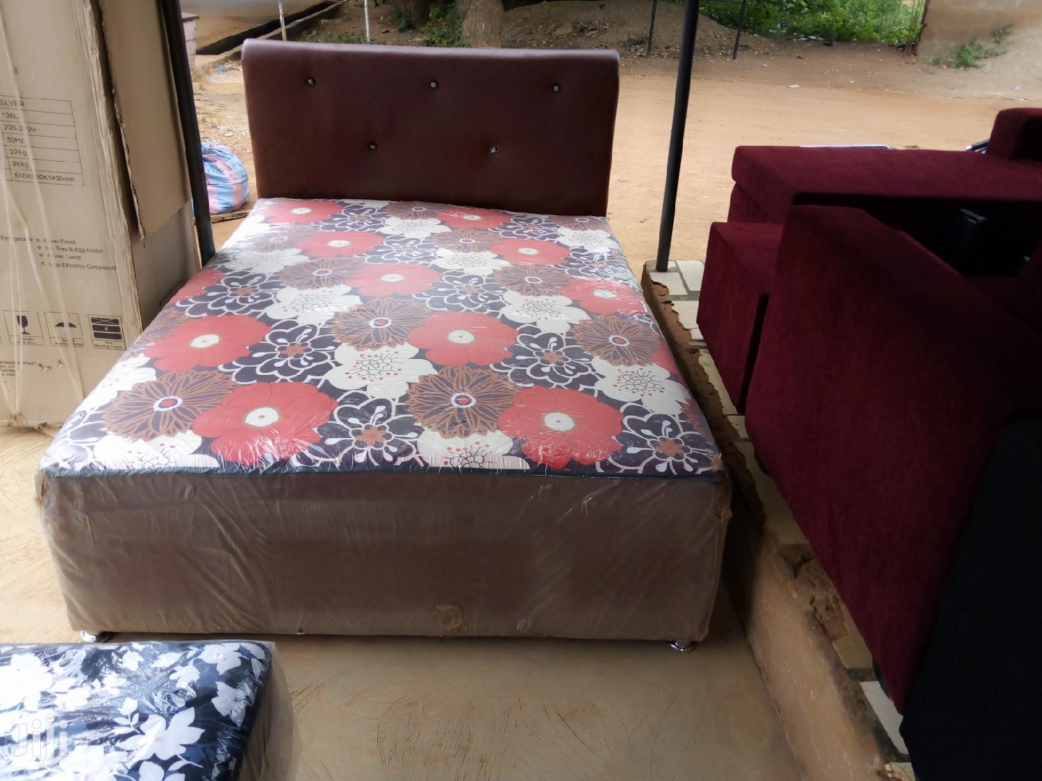 Quality Double Leather Bed | Furniture for sale in Adenta Municipal, Greater Accra, Ghana
