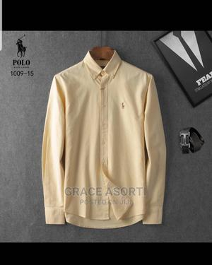 Cotton Polo Rauf Long Sleeves Shirts   Clothing for sale in Central Region, Agona East
