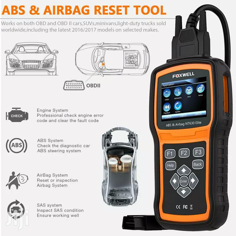 FOXWELL NT630 Elite OBD2 Automotive Scanner ABS SRS Etc Code Reader | Vehicle Parts & Accessories for sale in Adenta Municipal, Greater Accra, Ghana