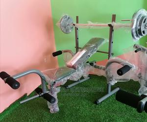 Bench Press With 40kg Weight and Bar | Sports Equipment for sale in Greater Accra, East Legon