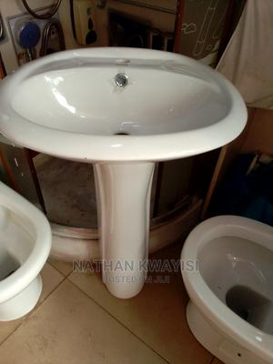 Wash Hand Basin With Pedester Medium Size | Plumbing & Water Supply for sale in Greater Accra, Accra Metropolitan