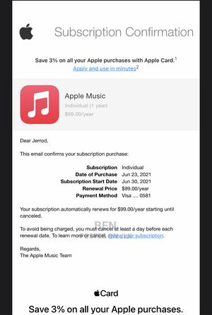 1year Apple Music Subscription Genuine Service | DJ & Entertainment Services for sale in Greater Accra, Accra Metropolitan