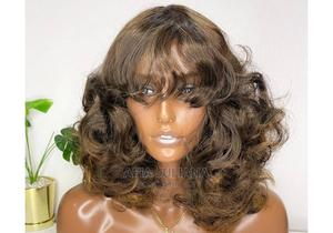 Bouncy Body Wave With Front Fringe Wig Cap   Hair Beauty for sale in Greater Accra, Osu