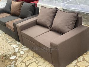 Cofe Colored 2in1 Sofa  . Free Delivery   Furniture for sale in Greater Accra, Anyaa