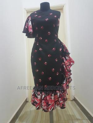 UK Size 10 Black Floral Dress   Clothing for sale in Greater Accra, Adenta