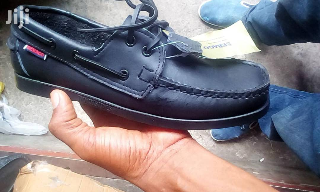 Brand New Sebago Leather Boat Loafers - For Sale