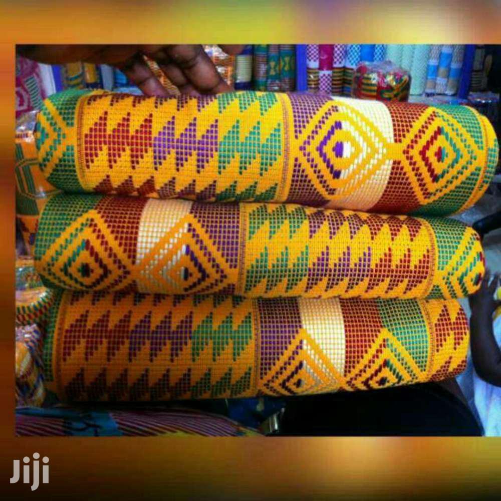 Yellow Kente Cloth New Set Of Kente.