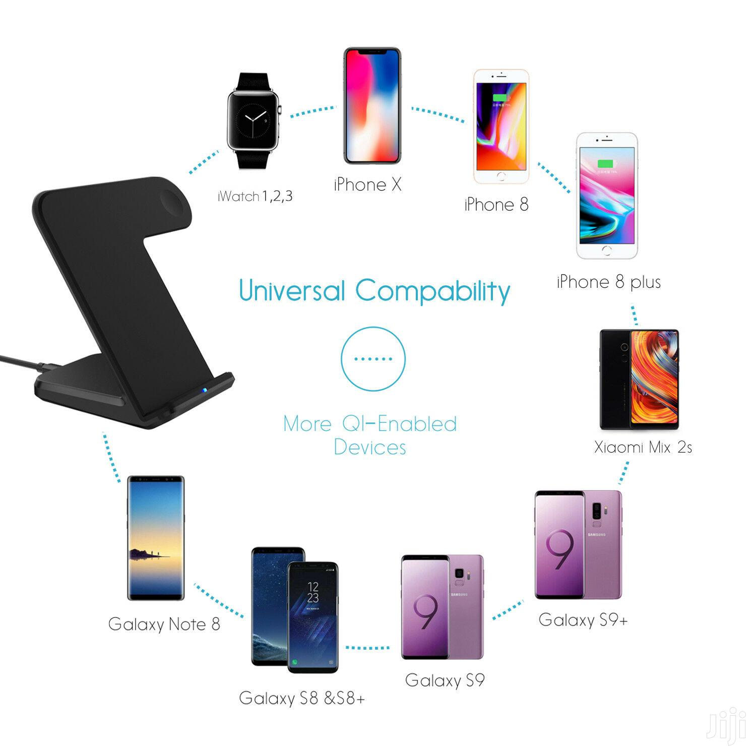 2in1 Wireless Charger Stand For Apple Watch,iPhone And Samsung