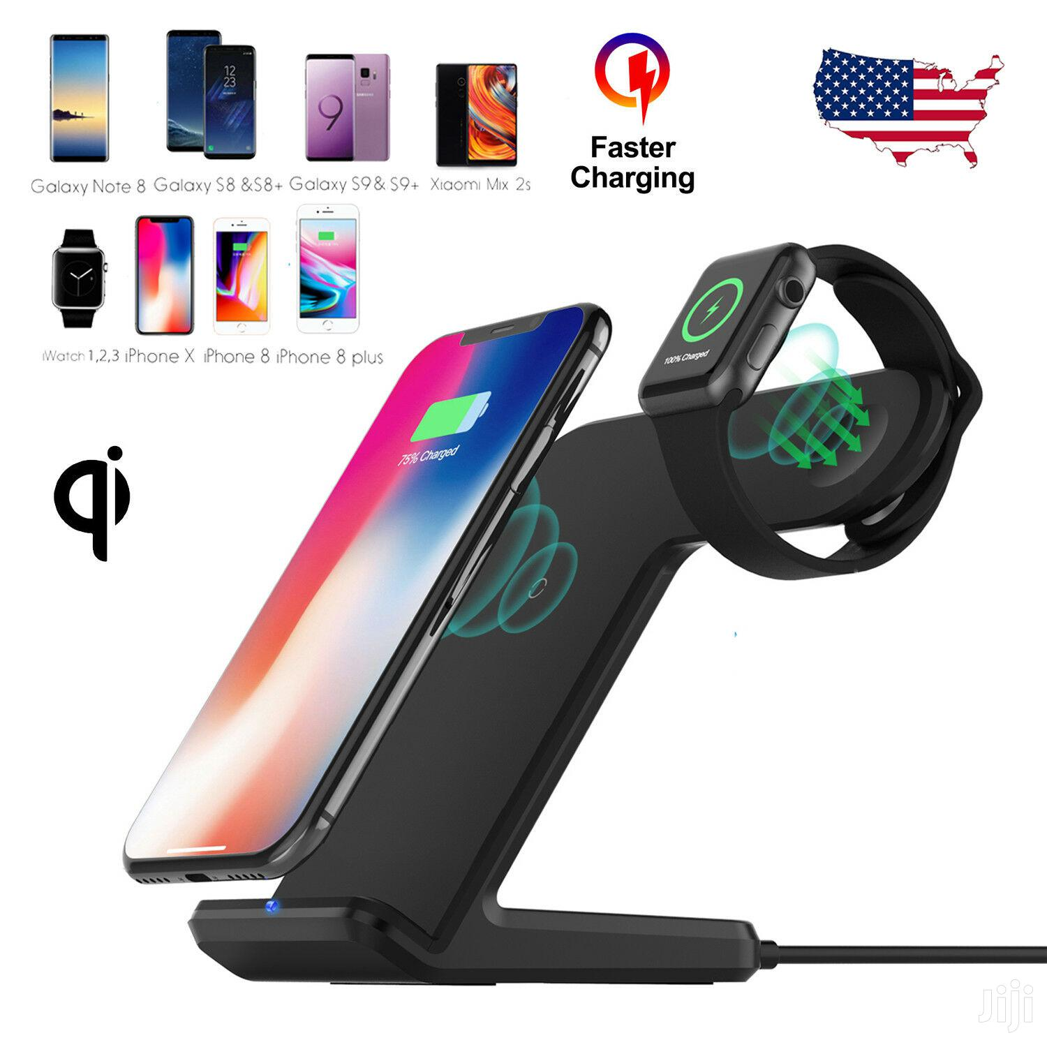 2in1 Wireless Charger Stand For Apple Watch,iPhone And Samsung | Smart Watches & Trackers for sale in Achimota, Greater Accra, Ghana