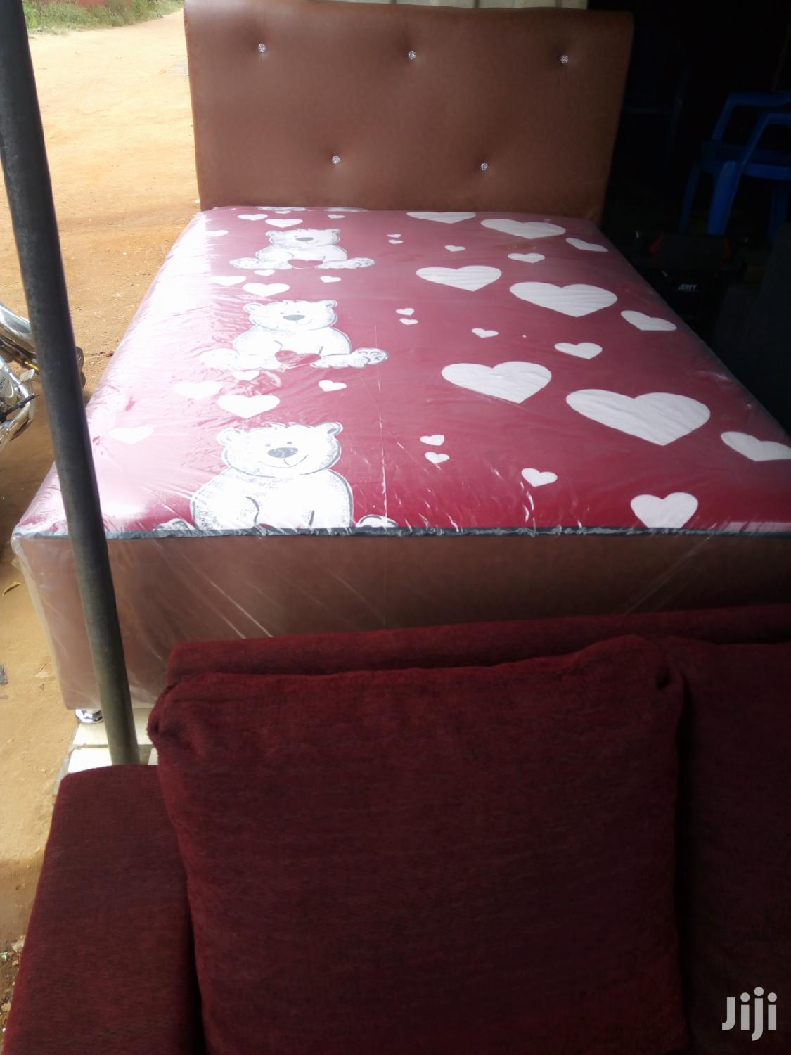 New Double Leather Bed