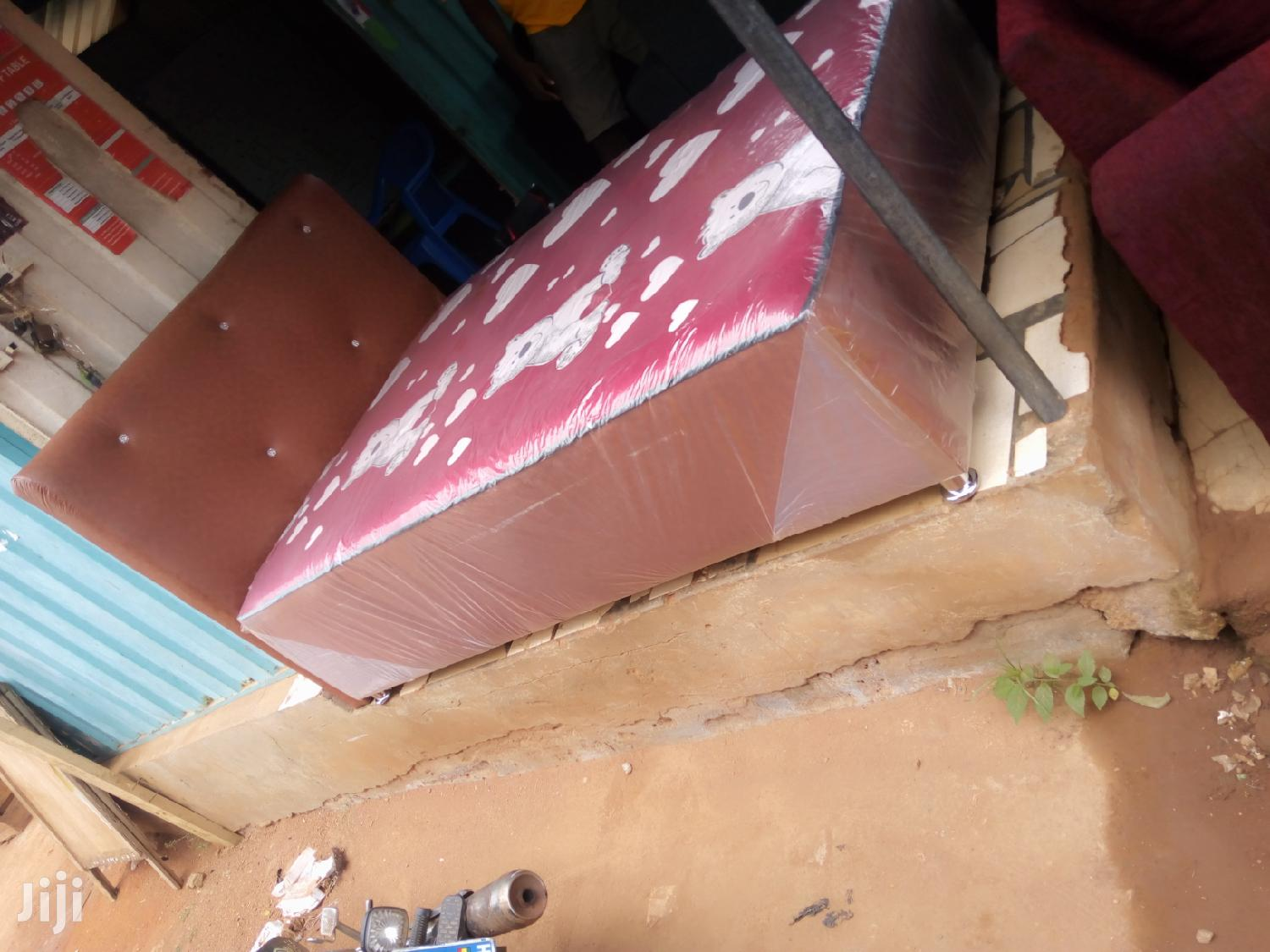 New Double Leather Bed   Furniture for sale in Adenta Municipal, Greater Accra, Ghana