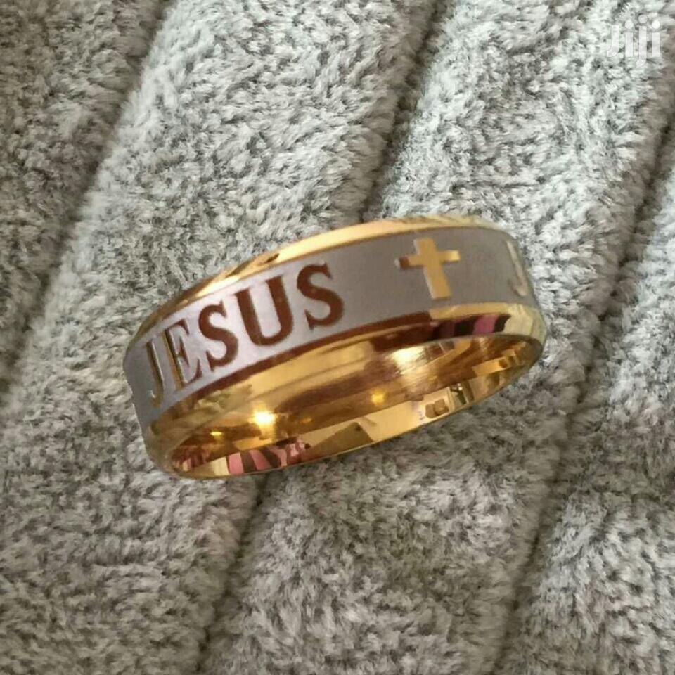 Gold Fashion Cross Ring