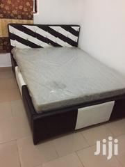 Well Designed Leather Bed With Foreign Mattress for Sell.   Furniture for sale in Greater Accra, Adenta Municipal