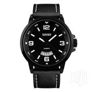 Black Leather Skmei Analogue Quartz Watch With Date | Watches for sale in Greater Accra, Achimota