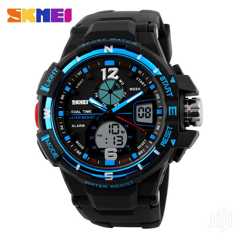 Anti Shock Skmei Dual Led Display Military Sports Watch