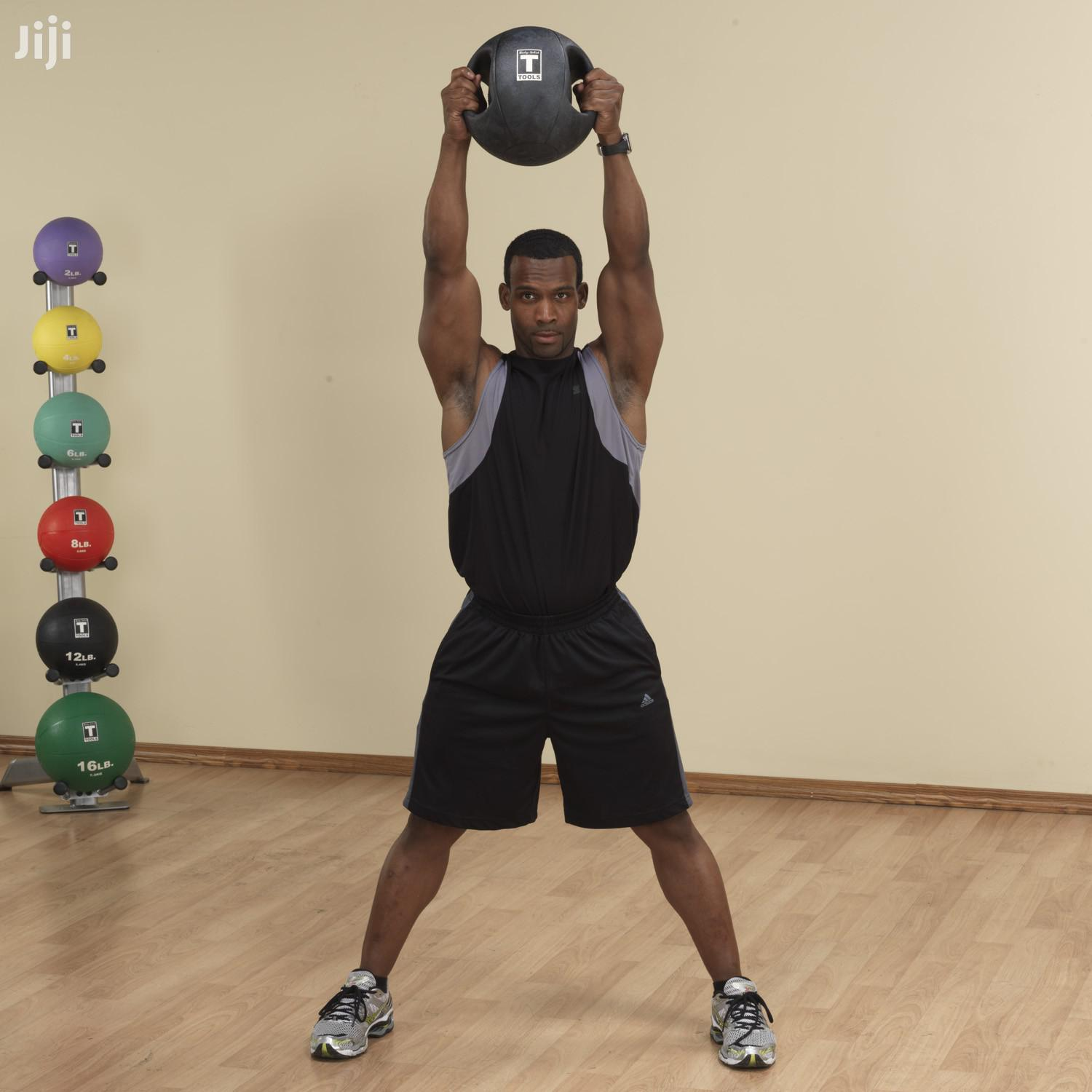 Dual Grip Medicine Ball 2.7kg | Sports Equipment for sale in Adenta Municipal, Greater Accra, Ghana