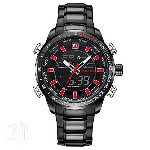 Naviforce 9093 Chain Watch Black Red