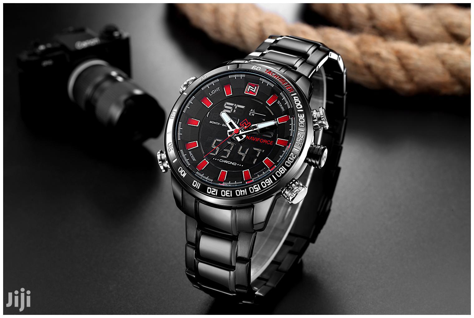 Naviforce 9093 Chain Watch Black Red | Watches for sale in Achimota, Greater Accra, Ghana