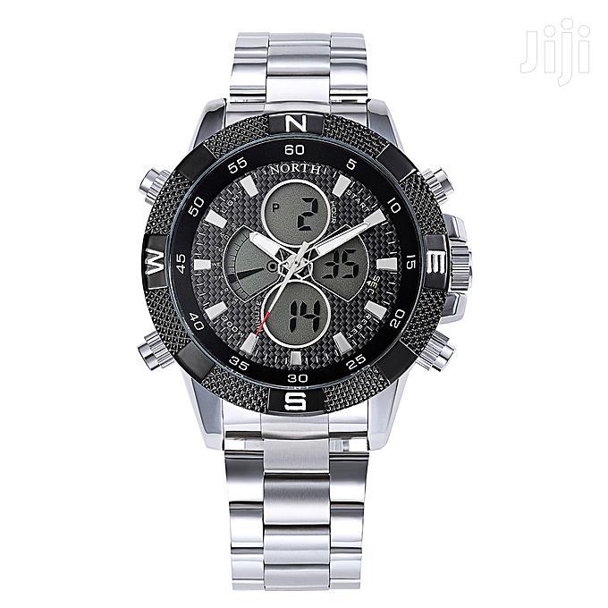Chain Dual Display Compass Watch