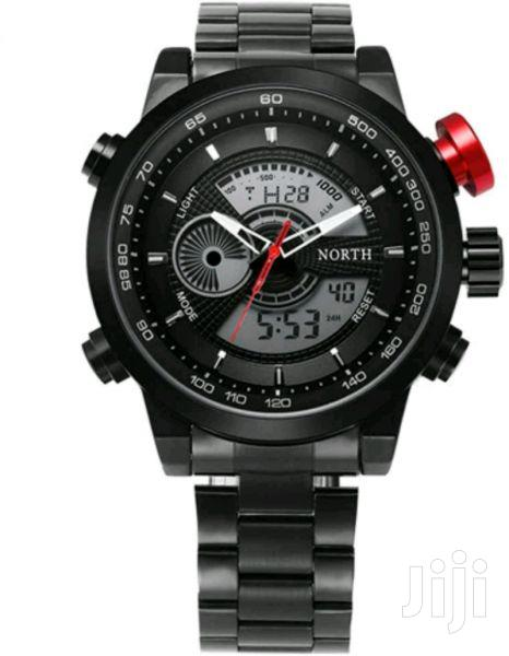 North Dual Time Chain Big Dial Watch