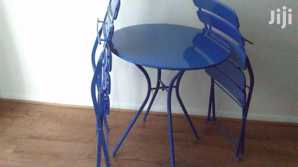 Metal Blue Chairs Table Set Sale | Furniture for sale in South Shiashie, Greater Accra, Ghana