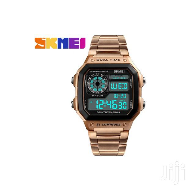 Archive: Rose Gold Skmei Digital Stainless Steel Chain Strap Watch