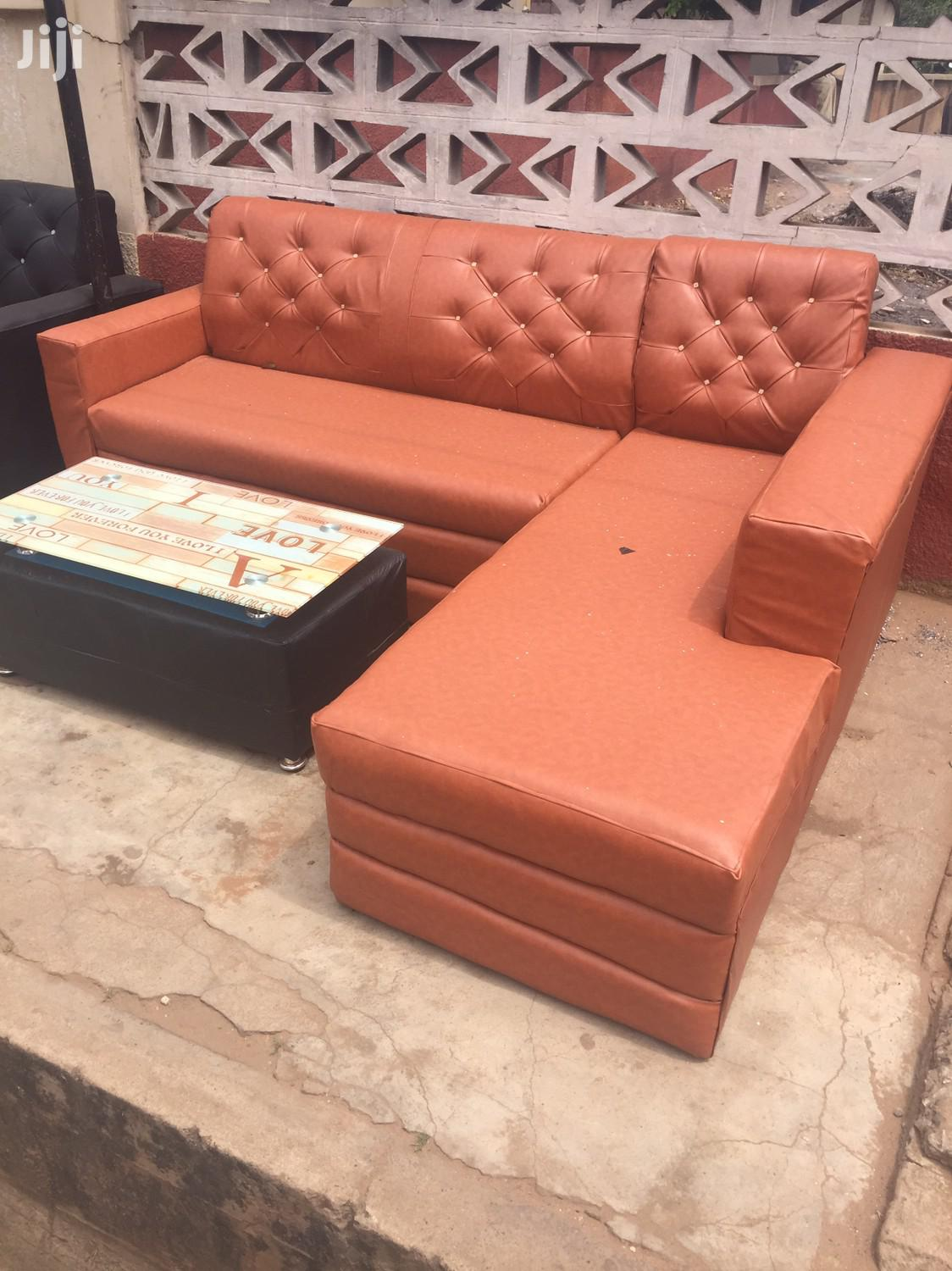 Ghana Made L Shaped Sofa With Center Table For Sell.