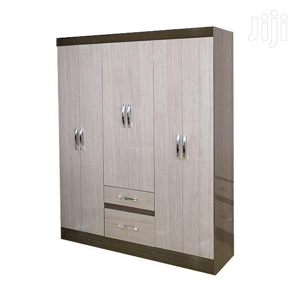 Wooden Wardrobe 6 Doors Gris/Palha