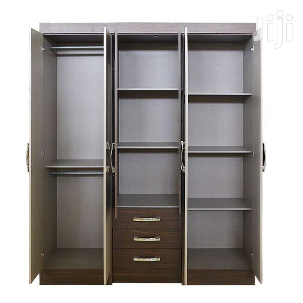 New Wooden Wardrobe 6 Doors With Mirror | Furniture for sale in Adenta Municipal, Greater Accra, Ghana