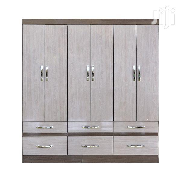 Wooden Wardrobe 6 Drawers Gris/Palha 0%