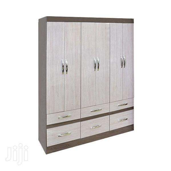Wooden Wardrobe 6 Drawers Gris/Palha 0% | Furniture for sale in Adenta, Greater Accra, Ghana