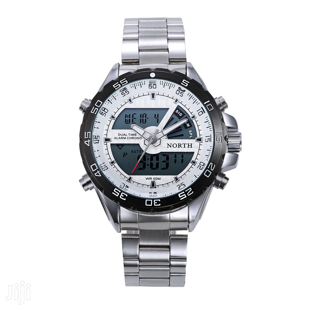 Stainless Analogue &Digital Mens Chain Watch
