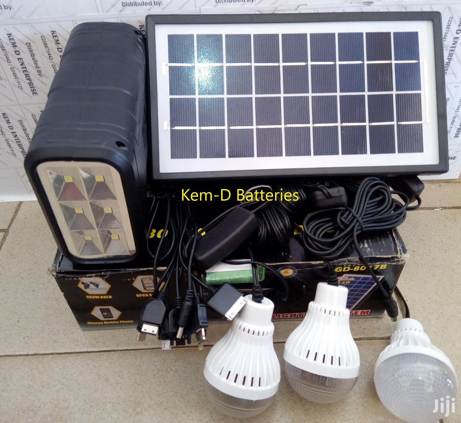 Solar Light Lamp Bulb Panel Torch + Free Delivery | Solar Energy for sale in North Kaneshie, Greater Accra, Ghana