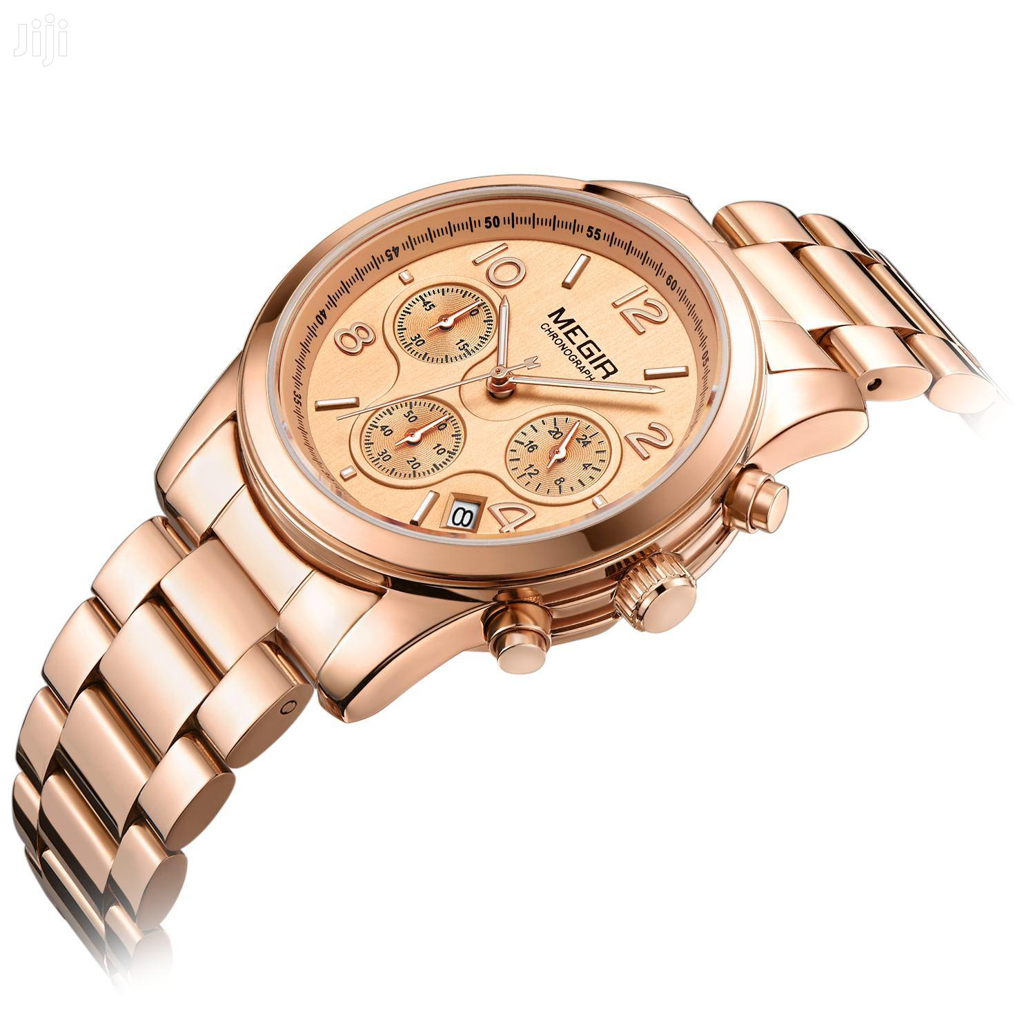 Archive: Women Chronograph Megir Watch Rosegold