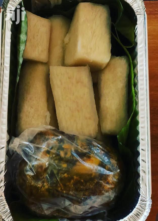 Yam And Palava Sauce