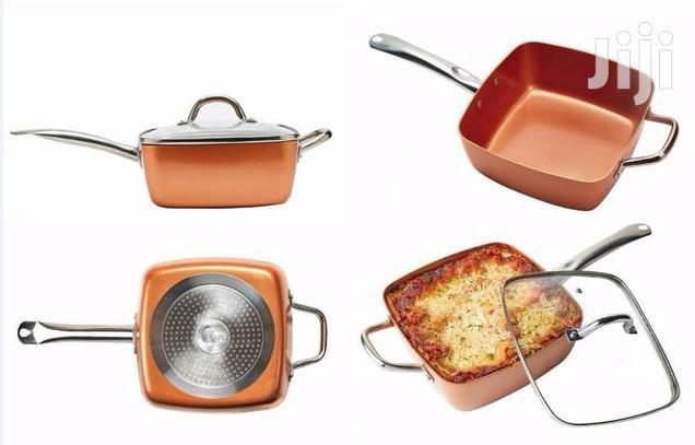 Archive: The Original COPPER CHEF Square Ceramic Nonstick Pan