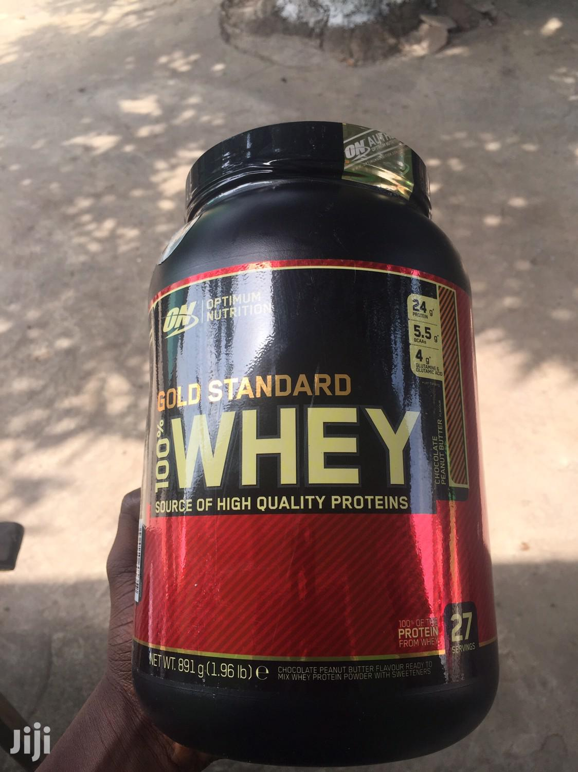 Weight Muscle Gainer Gold Standard Whey Protein From U.K in Stock | Vitamins & Supplements for sale in North Kaneshie, Greater Accra, Ghana