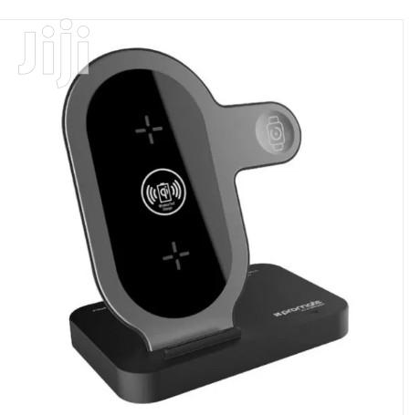 Promate Aurabase Fast Wireless Charging Stand for Apple iPhone Watch