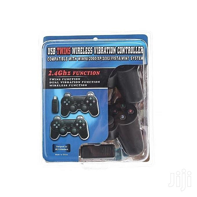 2.4ghz USB Twins Vibration Wireless Controller For PC Games | Video Game Consoles for sale in Nima, Greater Accra, Ghana
