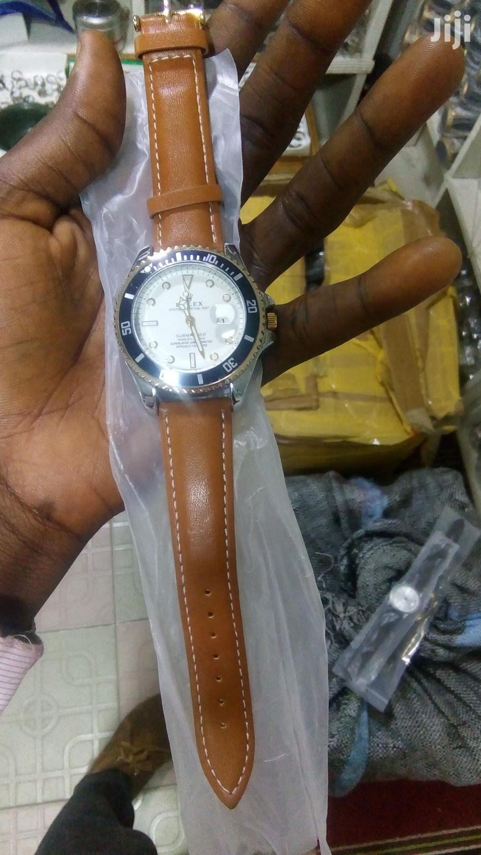 Brown Leather Rolex