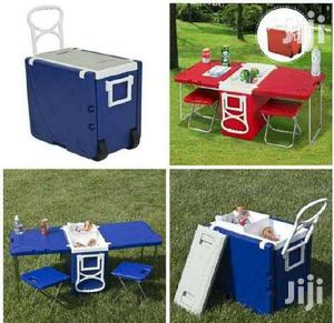 Neat Rolling Picnic Ice Chest/Cooler