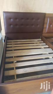 Brown Leather Bed Frame at a Cool Price. | Furniture for sale in Greater Accra, Cantonments