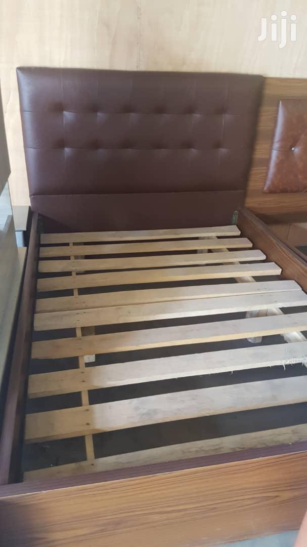 Brown Leather Bed Frame at a Cool Price.