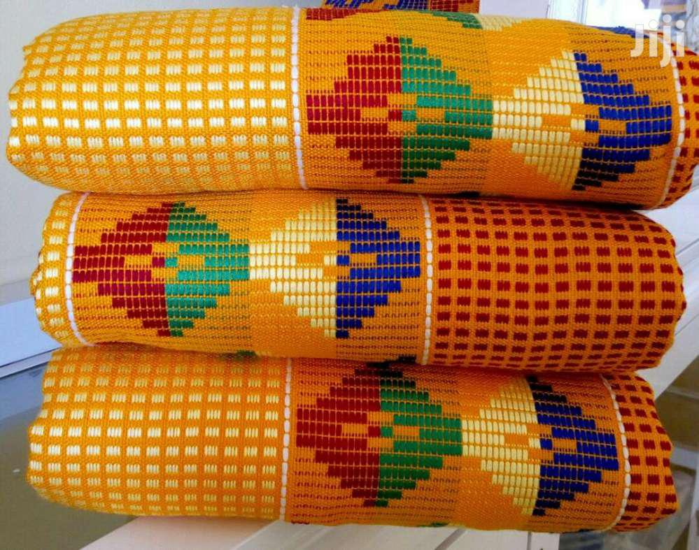 Archive: Yellow Latest Kente Design. In