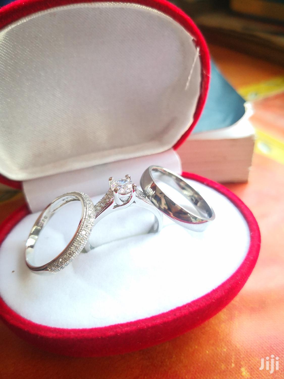 Original Sterling Silver 3 Set Wedding Rings