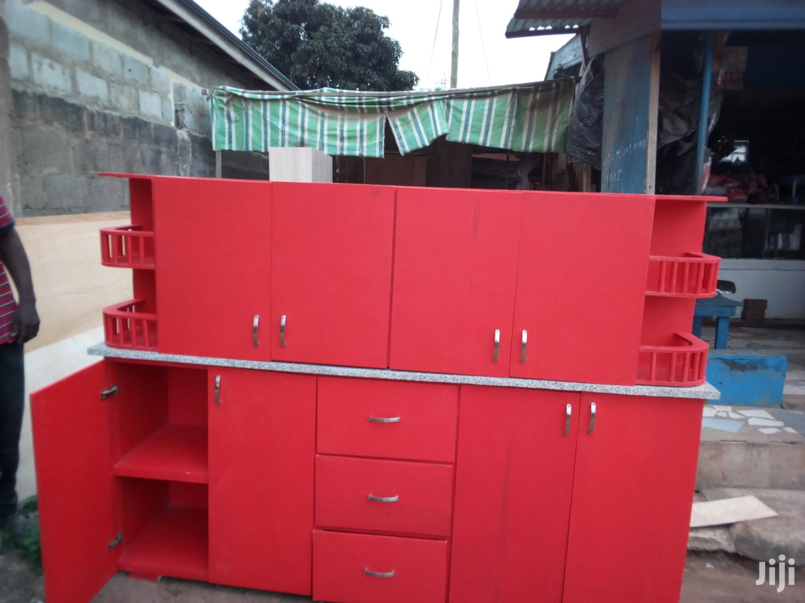 Red Top /Down Cabinet