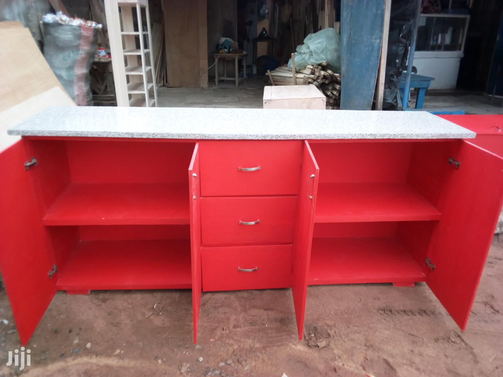 Red Top /Down Cabinet   Furniture for sale in Adenta Municipal, Greater Accra, Ghana