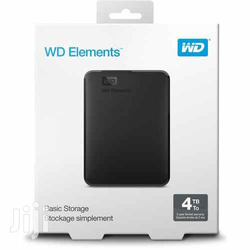 WD 4TB Elements USB 3.0 External Hard Drive - 4TB Black | Computer Hardware for sale in Akweteyman, Greater Accra, Ghana