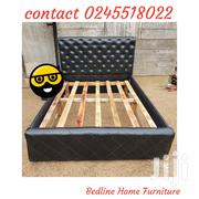 Turkish Dark Leather Bed ❤ 🖤 | Furniture for sale in Greater Accra, Asylum Down