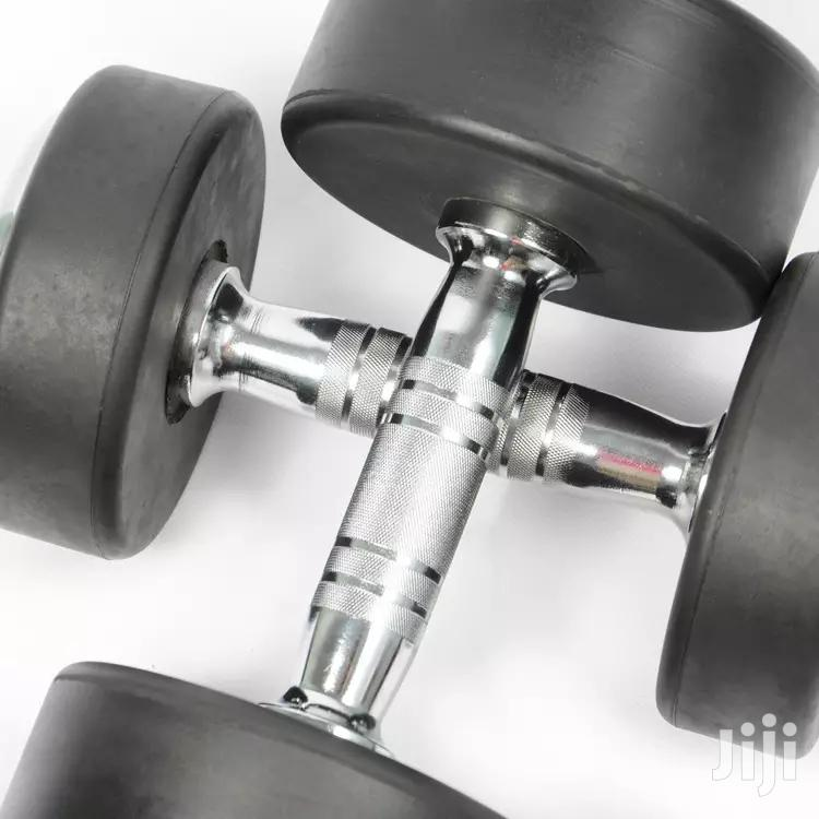 30kg Rubber Coated Dumbbell   Sports Equipment for sale in Korle Gonno, Greater Accra, Ghana